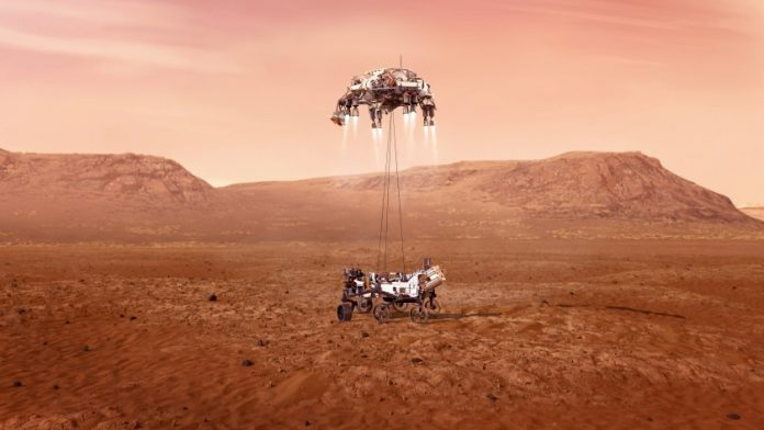 मंगल ग्रह पर नासा की पर्सिवरेंस रोवर उतरा
