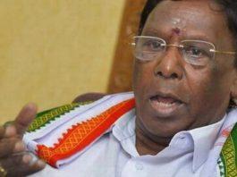 कांग्रेस सरकार के बहुमत खोने के बाद नारायणसामी ने सीएम पद से इस्तीफा दिया