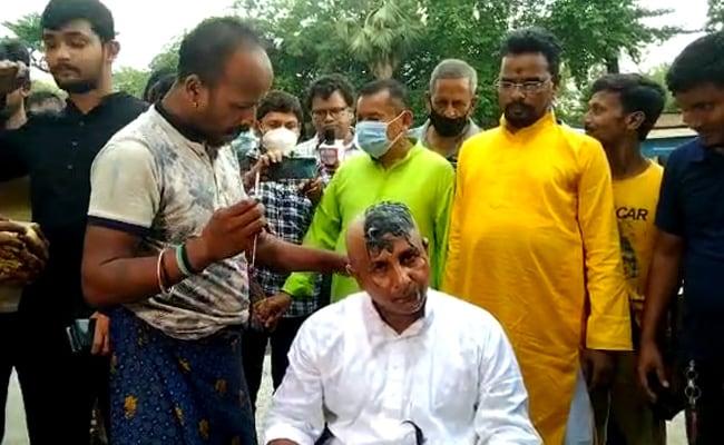 त्रिपुरा भाजपा के विधायक ने सर मुंडवाया और पार्टी छोड़ी